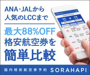 航空券予約サイトのソラハピ